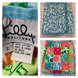 Lilly Pulitzer reversible skirt Party Patch Splash